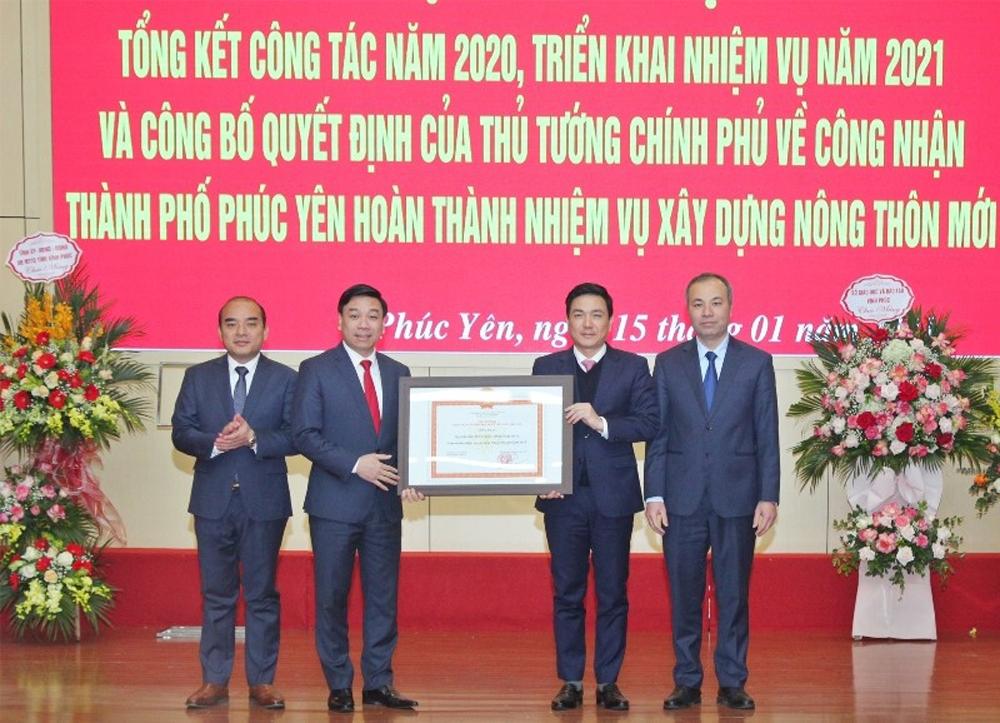 Thủ tướng Chính phủ công nhận Phúc Yên hoàn thành xây dựng nông thôn mới