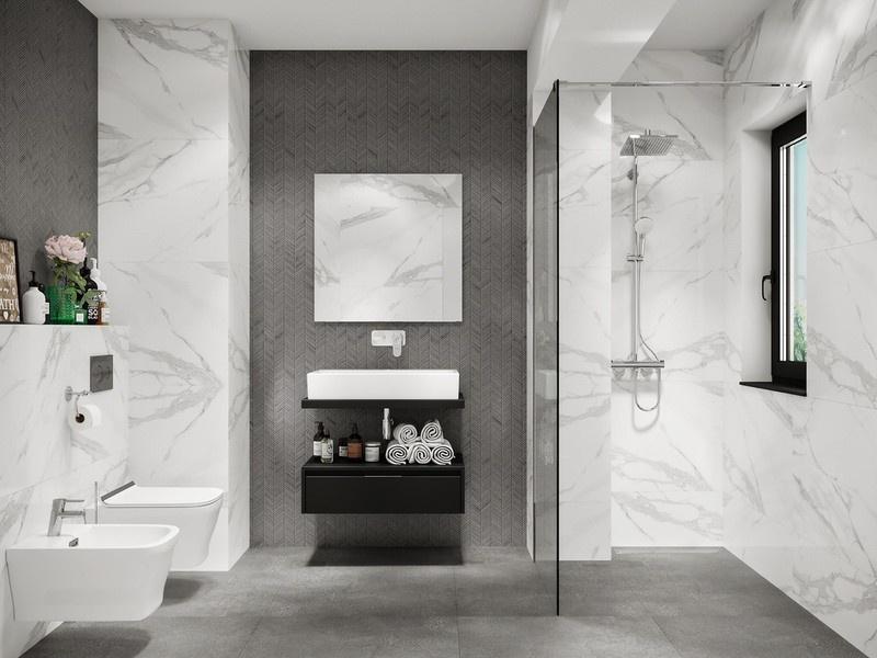 Sắc thái khác nhau của mẫu phòng tắm rộng 4m2 tiêu chuẩn