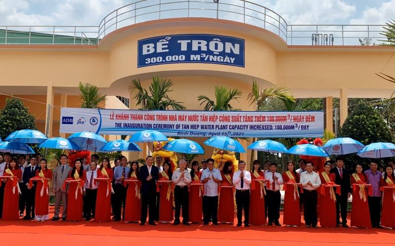 Bình Dương: Khánh thành nhà máy nước Tân Hiệp mở rộng