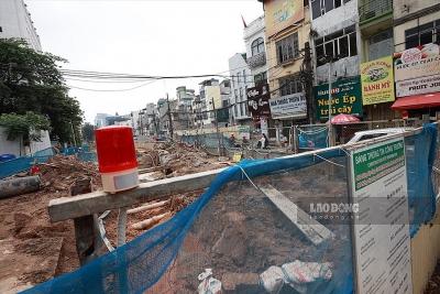 Người dân lo lắng khi đường sắt Nhổn - ga Hà Nội bắt đầu đào hầm