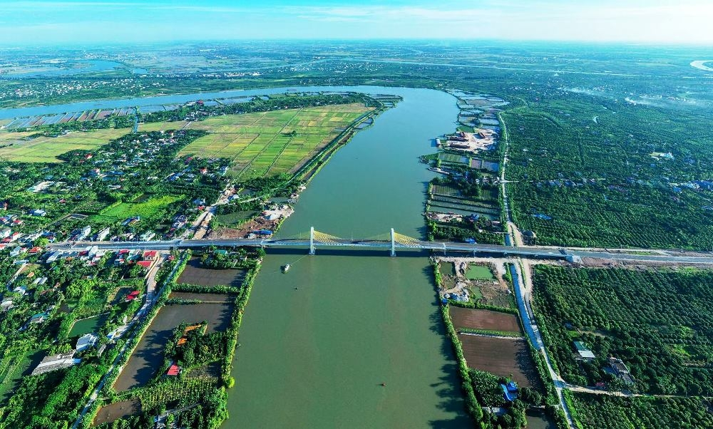Cầu Quang Thanh kết nối thành phố Hải Phòng và tỉnh Hải Dương chuẩn bị đưa vào sử dụng