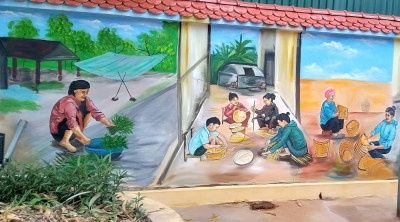 Quảng Ninh: Gốm Đất Việt trình làng hội họa đồng quê