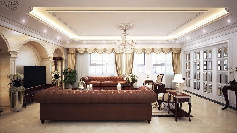 Ngắm nhìn căn hộ mang phong cách tân cổ sang trọng