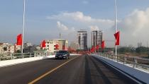 Thông xe cầu vượt trị giá 175 tỷ đồng ở thành phố Bắc Giang