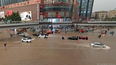 Hàng chục thành phố ở Trung Quốc ngập trong biển nước