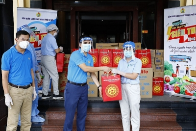 """Hà Nội tổ chức """"Xe buýt siêu thị 0 đồng"""" phục vụ công nhân trong KCN"""