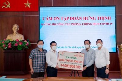Tập đoàn Hưng Thịnh hỗ trợ khẩn hàng chục tỷ đồng cho Thành phố Hồ Chí Minh phòng, chống dịch Covid-19