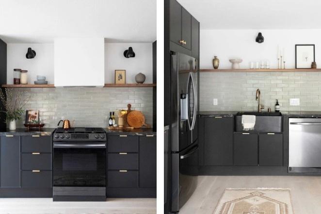 Căn bếp màu đen độc đáo cải tạo từ nơi ở cũ kỹ