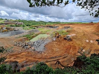 Đắk Nông xử phạt Công ty Kim Lan khai thác khoáng sản trái phép