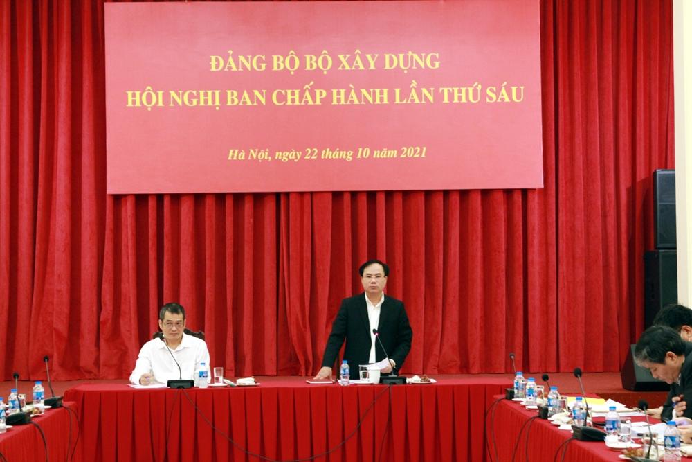 Hội nghị Ban chấp hành Đảng bộ Bộ Xây dựng lần thứ sáu