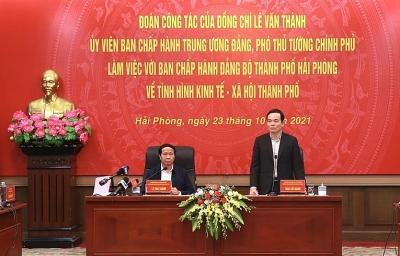 Phó Thủ tướng Lê Văn Thành: Hiếm có địa phương nào đạt mức tăng trưởng liên tục như Hải Phòng