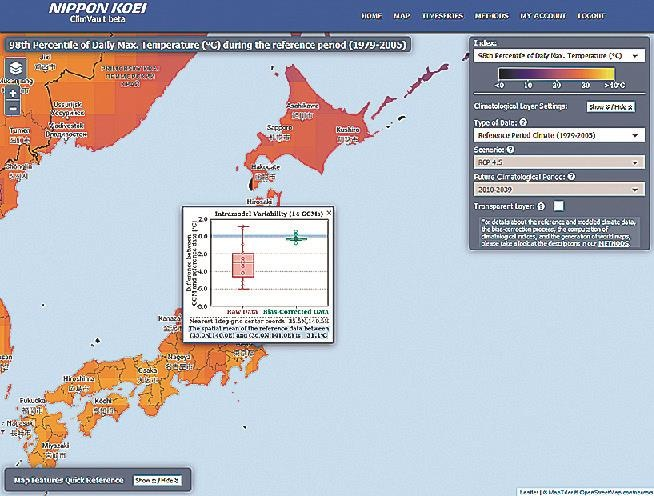 Nippon Koei launches website offering climate change predictions for world major cities