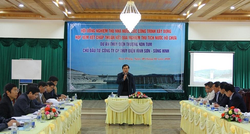Acceptance of upper Kon Tum hydroelectric reservoir