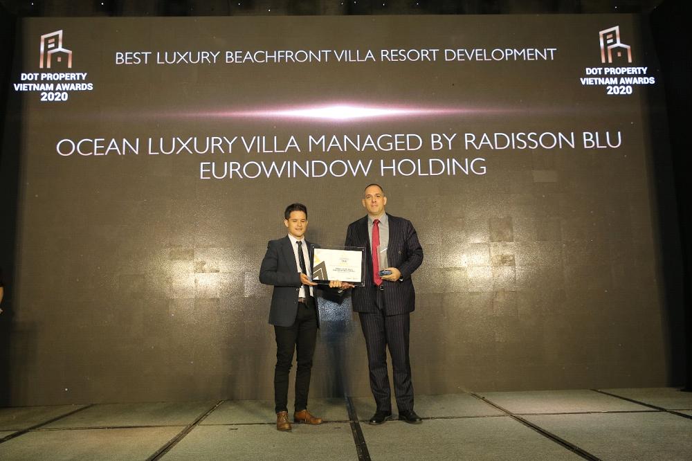 Ocean Luxury Villa by Radisson Blu thắng lớn tại Dot Property Vietnam Awards 2020