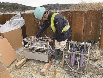 Construction sites introducing small-sized water purifying machine