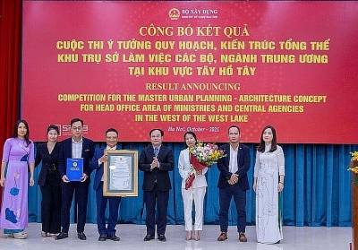Ministry of Construction announces result for master urban planning-architecture concept in West of Ho Tay area