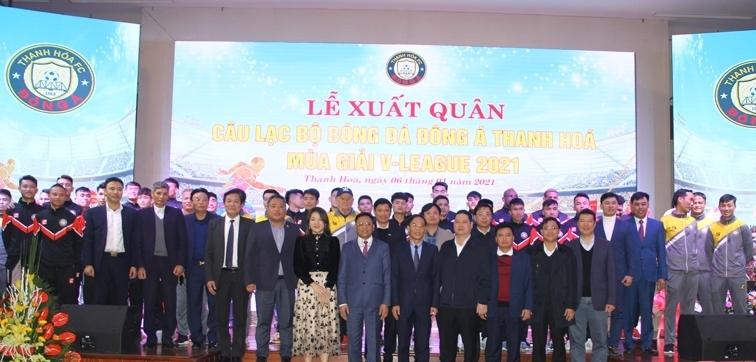 Lễ xuất quân mùa giải 2021 của CLB bóng đá Đông Á Thanh Hóa