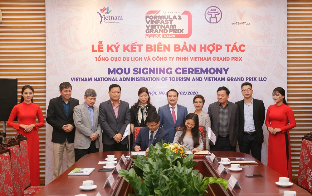 Tổng cục Du lịch và Vietnam Grand Prix hợp tác quảng bá, xúc tiến du lịch và giải đua F1