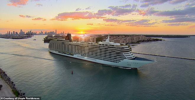 Con tàu 1 tỷ USD với những căn hộ xa xỉ cho giới siêu giàu