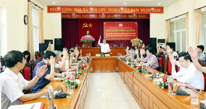 Vĩnh Phúc: 8 người tham gia ứng cử đại biểu Quốc hội và 85 người ứng cử đại biểu HĐND tỉnh