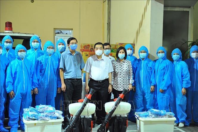 Đội đặc nhiệm của Hà Nội lên đường hỗ trợ Bắc Giang chống dịch Covid-19