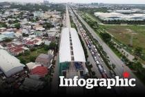 Infographic: Tuyến metro đầu tiên của Sài Gòn đang băng băng về đích