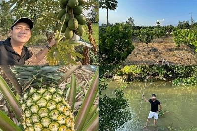 Diễn viên Minh Luân cải tạo khu vườn 2000m2 trồng loạt cây ăn trái