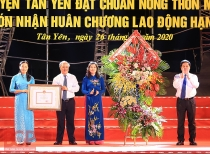 Tân Yên (Bắc Giang): Đón nhận Quyết định công nhận đạt chuẩn Nông thôn mới