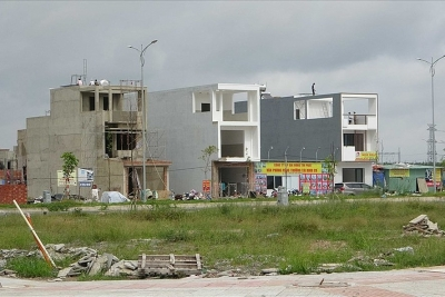 """""""Làng"""" biệt thự, nhà phố mọc lên bên dự án sân bay Long Thành"""