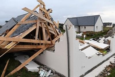 Bão Aurore tràn vào các khu vực Bắc châu Âu gây thiệt hại nặng nề