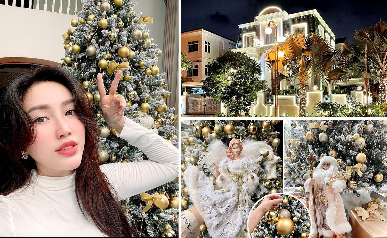 Cận cảnh không gian căn nhà triệu đô Bảo Thy trang hoàng đón Giáng sinh