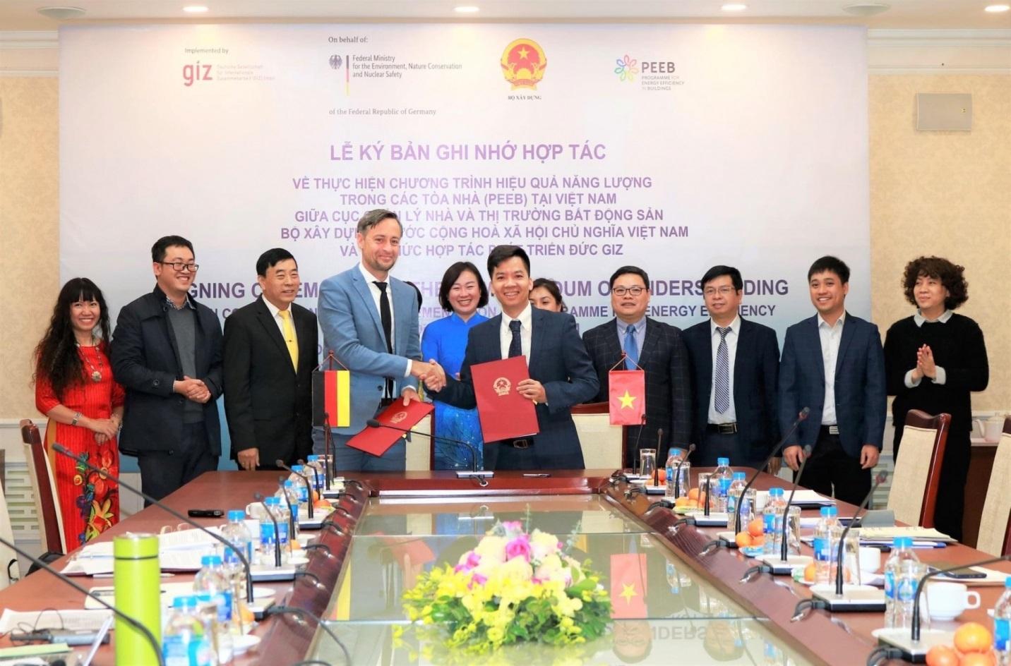 Bộ Xây dựng và GIZ ký Bản ghi nhớ hợp tác Chương trình nhà ở xanh Việt Nam 2021 – 2025