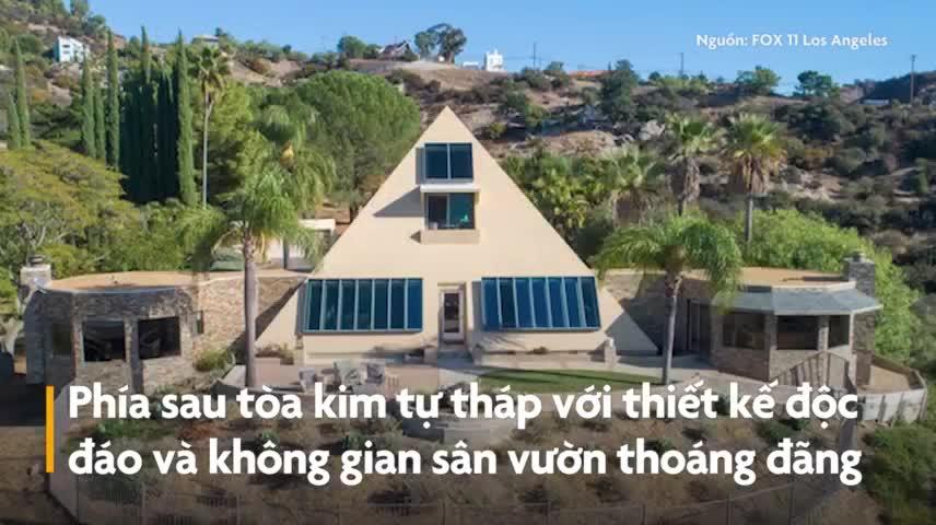 Căn biệt thự triệu USD hình kim tự tháp độc đáo