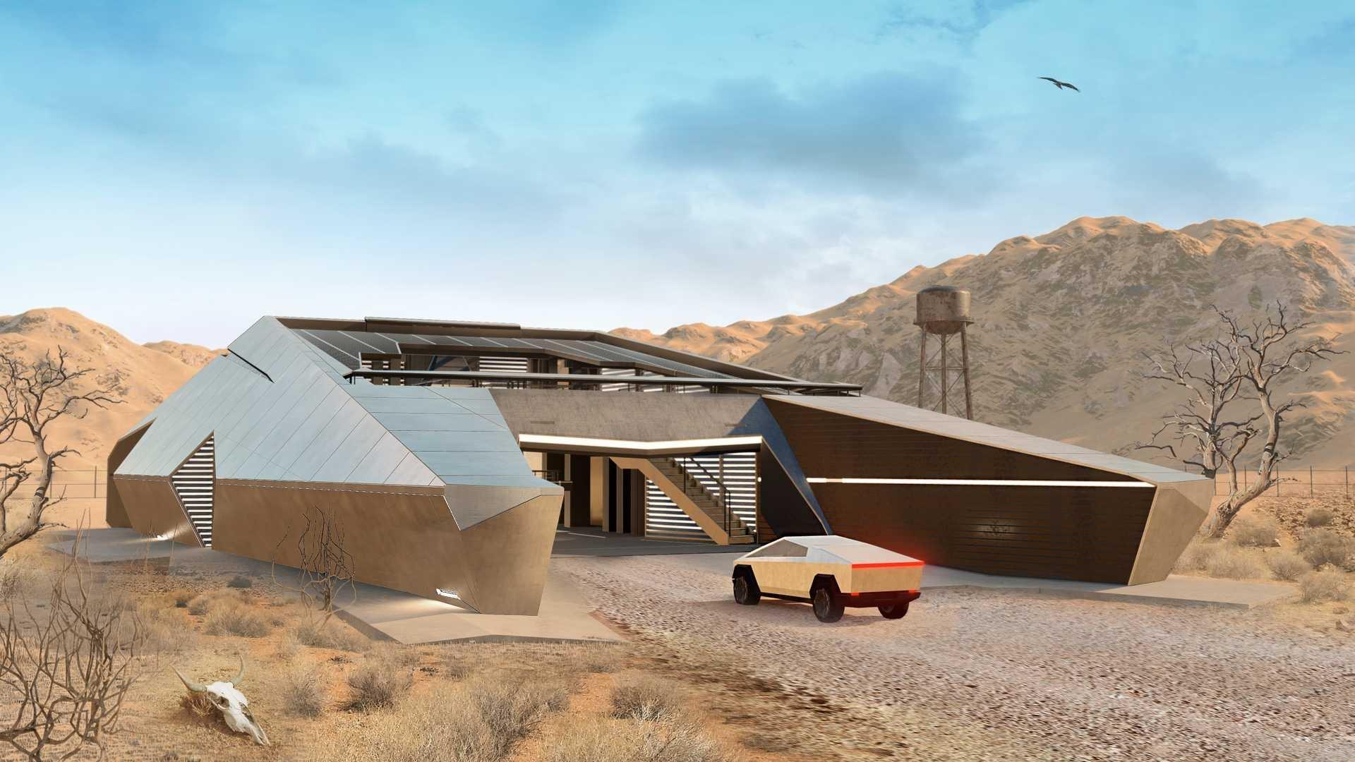 Ngôi nhà tương lai lấy cảm hứng từ xe của Elon Musk