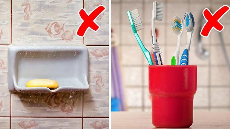 Những đồ dùng tuyệt đối không nên để trong nhà tắm
