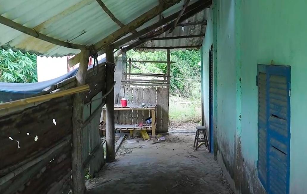 Căn nhà xuống cấp của Hồ Văn Cường ở Tiền Giang