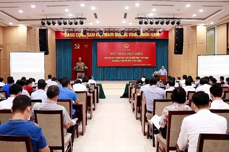 Bộ Xây dựng tổ chức Hội nghị phổ biến các văn bản quy phạm pháp luật mới nhất