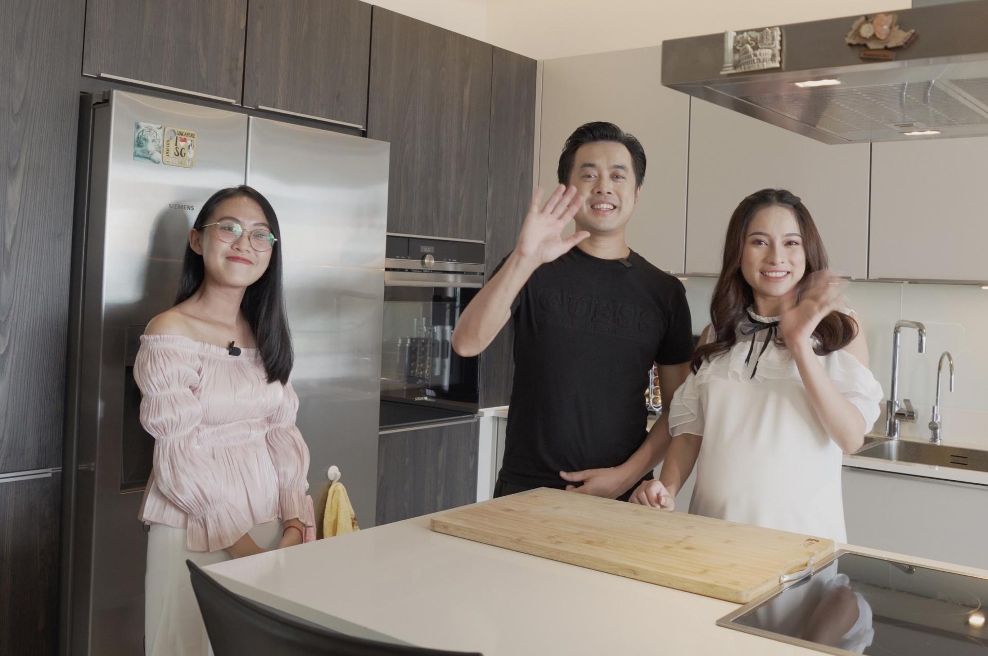 Thăm bếp trị giá 1,2 tỷ của vợ chồng Dương Khắc Linh