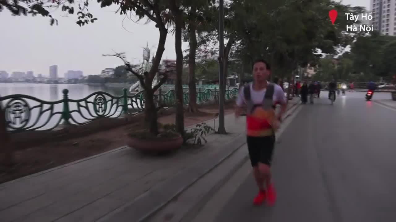 Hồ Tây - đường chạy ưa thích của giới runner Hà thành